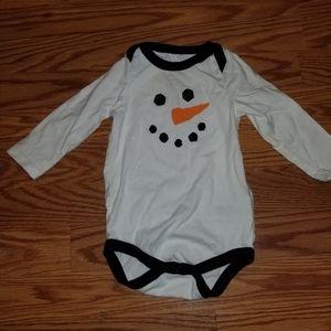 Cherokee kids snowman shirt